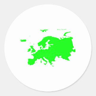 Continente de Europa Pegatina Redonda