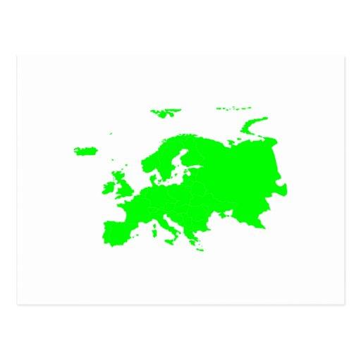 Continente de Europa Tarjeta Postal