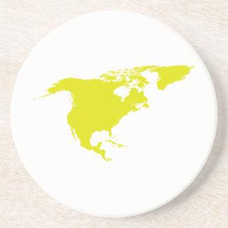 Continente de Norteamérica Posavasos Manualidades