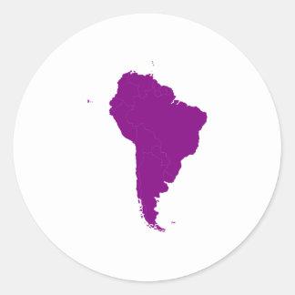 Continente de Suramérica Pegatina Redonda