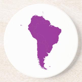 Continente de Suramérica Posavasos Diseño