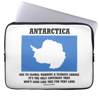 Continente del cambio de clima del calentamiento manga portátil