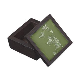 continentes de color caqui grises caja de joyas de calidad