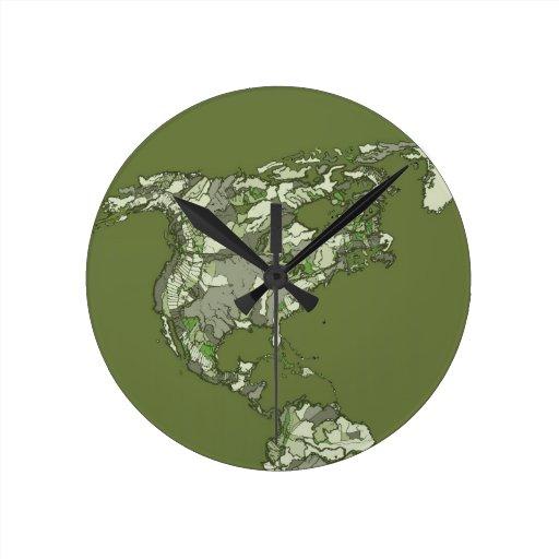 continentes de color caqui grises reloj