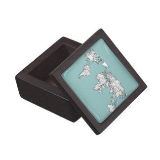 Continentes de la turquesa cajas de regalo de calidad