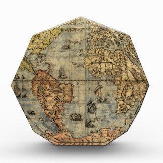 Continentes históricos del atlas del vintage del