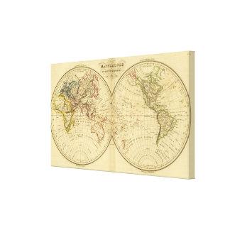 Continentes Impresión En Lienzo Estirada