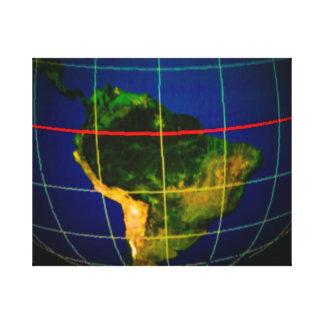 Continentes Impresión En Lona