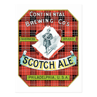 Continential Brewing Company Scotch Ale Postcard
