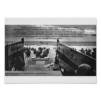 Contingency Letter of Dwight D. Eisenhower Poster