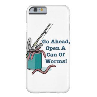 Continúe, abra una poder de gusanos funda barely there iPhone 6