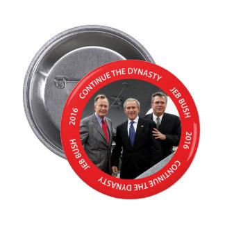 Continúe el botón de Jeb Bush 2016 de la dinastía