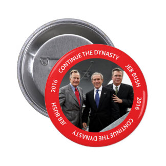 Continúe el botón de Jeb Bush 2016 de la dinastía Pin Redondo De 2 Pulgadas