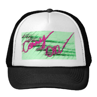 Continúe el verde y el rosa (el extracto) gorras