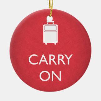 CONTINÚE - equipaje - el rojo divertido Adorno