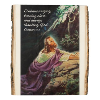 Continue Praying Colossians 4:2 Wood Panel