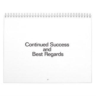 Continued Success And Best Regards Calendar