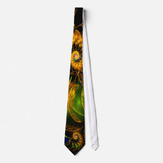 Continum Flame Fractal Abstract Tie