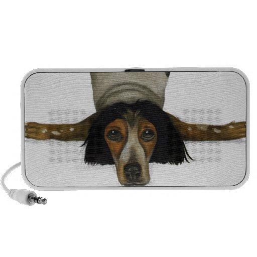 Contorsionista canino iPhone altavoces
