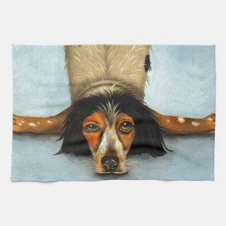 Contorsionista canino toallas