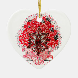 Contortion Ceramic Ornament