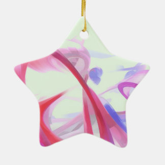 Contortion Pastel Abstract Ceramic Ornament