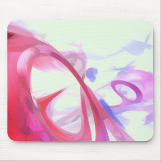 Contortion Pastel Abstract Mouse Pad