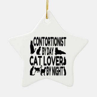 Contortionist Cat Lover Ceramic Ornament