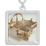 Contour Compass Square Pendant Necklace