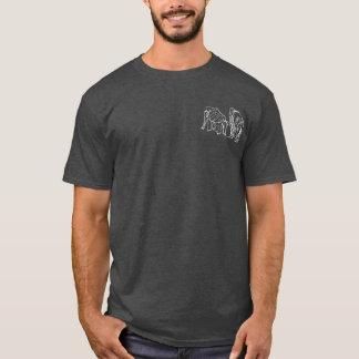 Contour Elephants Overlay on Dark Color T-Shirt