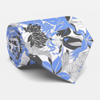 Contour Hawaii Tropical Lily and Protea Floral Neck Tie