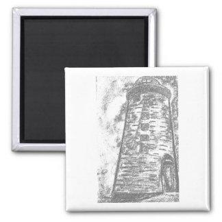 Contour lighthouse 2 inch square magnet