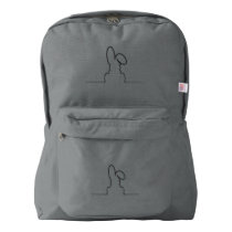Contour of a hare american apparel™ backpack