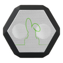 Contour of a hare light green black bluetooth speaker