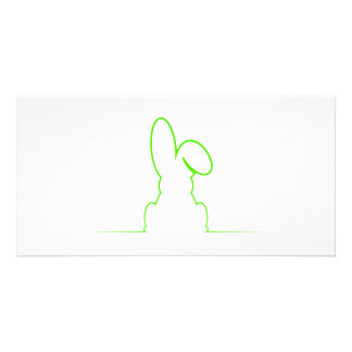 Contour of a hare light green card