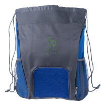 Contour of a hare light green drawstring backpack