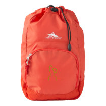 Contour of a hare light green high sierra backpack