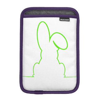 Contour of a hare light green iPad mini sleeve