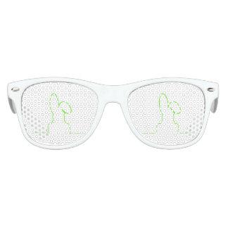 Contour of a hare light green kids sunglasses