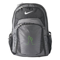 Contour of a hare light green nike backpack