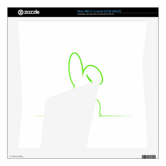 Contour of a hare light green skins for xbox 360 s