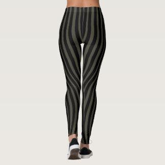 CONTOUR SLIMMING BLACK LINES by Slipperywindow Leggings