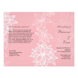 Contoured Bloom Blush Wedding Program Flyer
