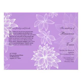 Contoured Bloom Lilac Wedding Program Flyer