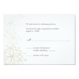 Contoured Bloom Taupe Reply Card
