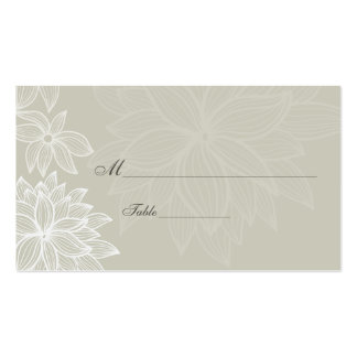 Contoured Bloom Taupe Special Occasion Place Card Business Card Templates