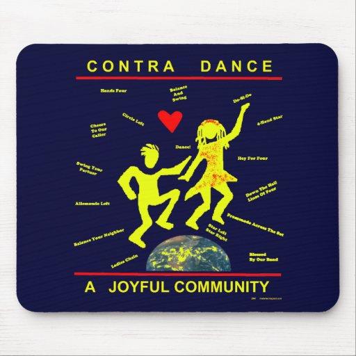 Contra alegría de la danza alfombrilla de raton