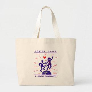 Contra alegría de la danza bolsa lienzo