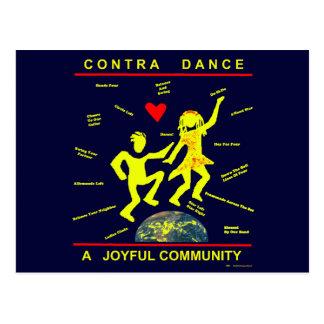 Contra alegría de la danza postal