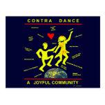 Contra alegría de la danza postales